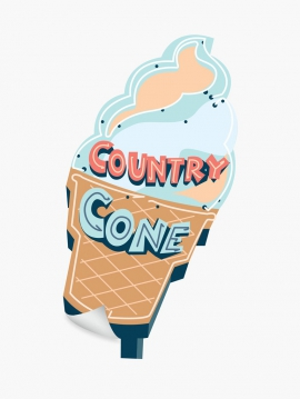 Ice cream sign / Collection Typographie