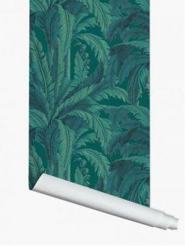 Fresque Musa - Vert - 1 lé - 89.4x300 cm - Aquapaper satiné lessivable pré-encollé