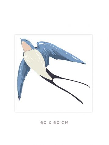 Swallow - Grand sticker 60 x 60cm