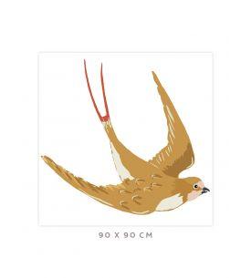 Swallow - Grand sticker 90 x 90cm