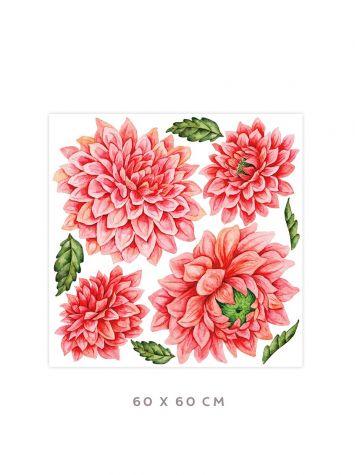 Dahlia - Grand sticker 60 x 60cm