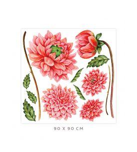 Dahlia - Grand sticker 90 x 90cm