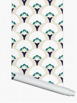 Palm, Beige - Panneau de 1,75m x 2,75m - Aquapaper mat pré-encollé