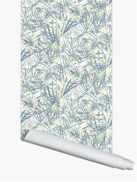 Palméa, Bleu/gris - 2 lés de 2,30m x 44,7cm - Aquapaper mat pré-encollé