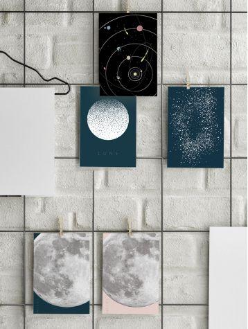 Carte postale - lune
