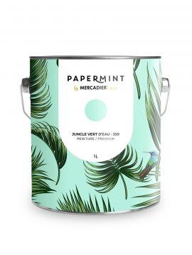 Peinture - Jungle Vert d'eau
