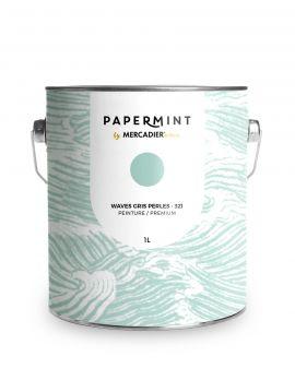 Peinture - Waves Gris perles