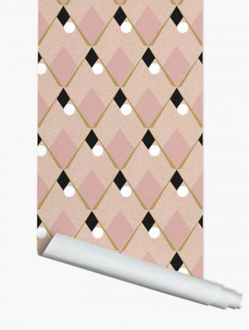 Arlequin - rose - 44,7 x 300cm - Aquapaper mat pre-pasted 1 ex