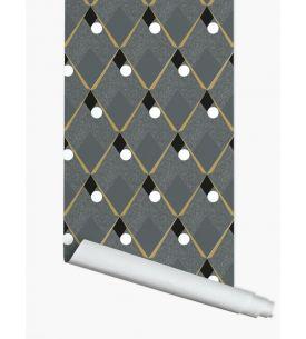 Herbier blanc - 1 strip of W. 52 x H. 300cm - WallDecor semi-mat