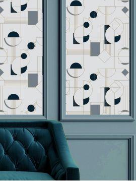 Daisy - bleu - 44,7 x 300cm - Aquapaper mat pré-encollé 1 ex