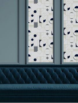 Daisy - bleu 44,7 x 300cm - Aquapaper mat pré-encollé non lavable 1 ex