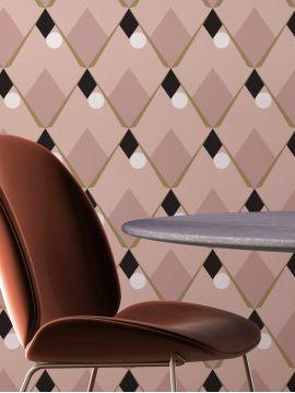Arlequin - rose - 44,7 x 300cm - Aquapaper mat pré-encollé 1 ex