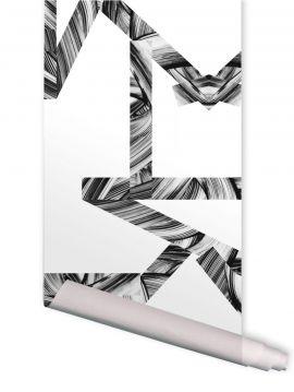 Stripes, noir - 88 x 295 cm - Aquapaper mat pré-encollé 1 ex