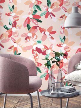 Blossom, rose - 44,7 x 300 cm - Aquapaper mat pre-pasted 1ex