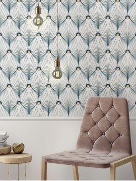 Paon, Blanc - 89,4 x 230 cm - Aquapaper mat pré-encollé