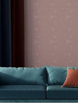 Tiles, terre - 89 x 200 cm - Aquapaper satiné lessivable 1 ex