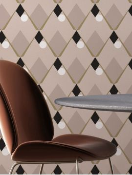 Arlequin, rose - 52 x 800 cm - WallDecor semi-mat 1ex