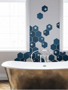 Tiles Etoilés Bleu - Set de 5 planches