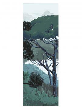 Fresque Toscane, vert - L.88 x H.275 cm - Aquapaper satiné lessivable - lé A.