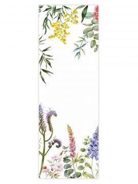 Wallpanel Lewis - blanc - 1 strip B of 88 x 270cm - Aquapaper satin pre-pasted