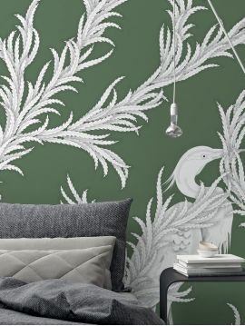 Wallpaper Creeper, vert - W.78 x H.295 cm - WallDecor semi-satin washable