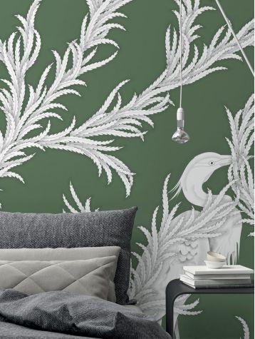 Wallpaper Creeper, vert - W.78 x H.295 cm - WallDecor semi-satin washable