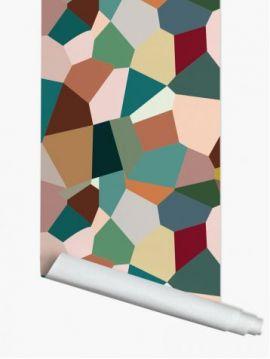 Eclats, multicolore - L.264 x H.270 cm - Aquapaper satiné lessivable - Second choix