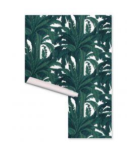 Wallpanel Oasis, Noir/Blanc - L. 264 x H. 270cm - Aquapaper satin washable - Second choice