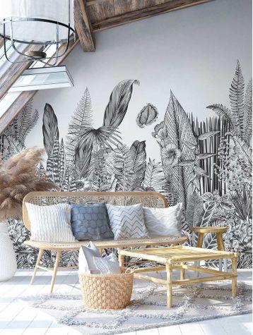 Wallpanel Botanic - 3 stripes