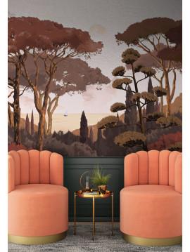 Fresque Toscane Monochrome - 3 à 6 lés