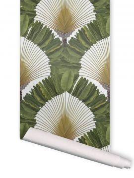 Palméa vert - 1 lé de L. 52 x H. 300cm - WallDecor semi-mat