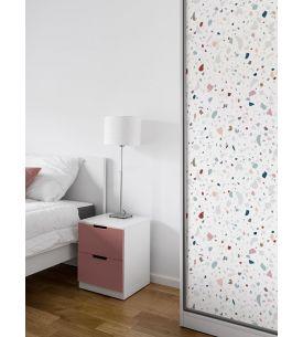 Fresque Oasis, Noir/Blanc - L.264 x H.270cm CDE - Aquapaper satiné lessivable - Second choix