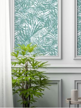 Palméa vert - 1 strip of W. 52 x H. 300cm - WallDecor semi-mat