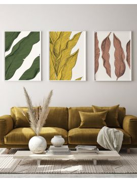 Set of 3 posters Leaf BP