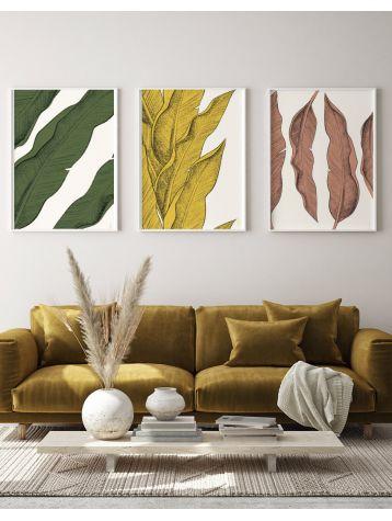 Set of 3 posters Leaf BP