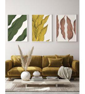 Musa Mosaique Blanc - Set de 9 planches sticker BP