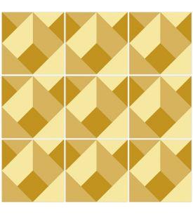 Musa Mosaique Rose - Set de 9 planches sticker BP