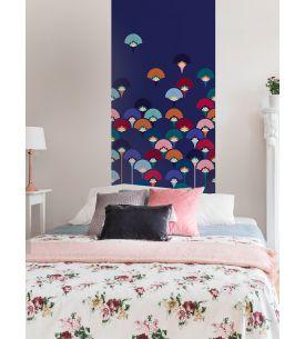 Wallpanel Sakura - Bleu Foncé - W.234 x H.250 cm - strips A.B.C - WallDecor Semi satin - Second Choice n°2