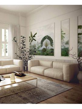Fresque Alice - Vert Pastel - L.78 x H.250 cm- Lé C - WallDecor Semi mat