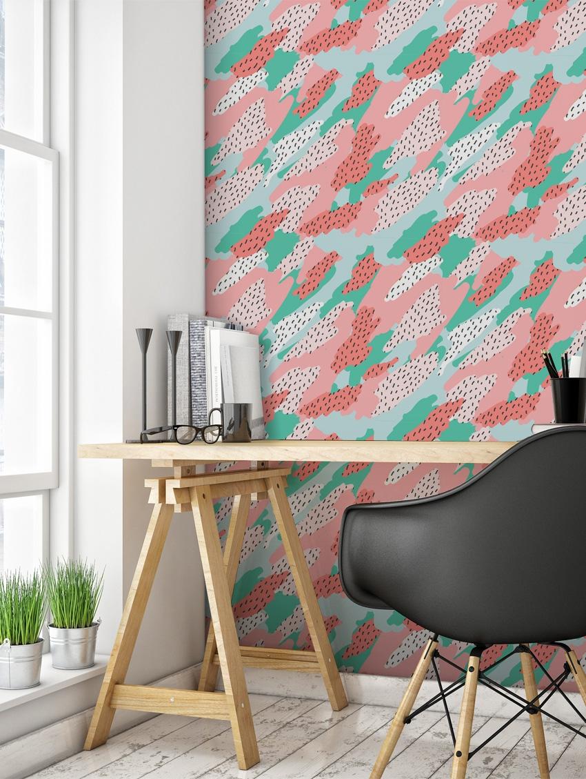 papier peint blot papermint. Black Bedroom Furniture Sets. Home Design Ideas