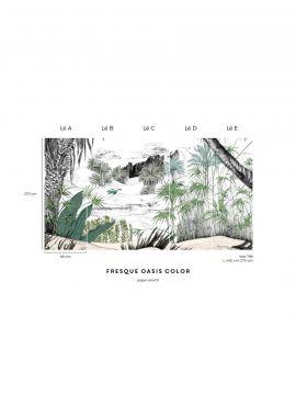 Fresque Oasis, couleur - L.88 x H.320 cm - Aquapaper satiné lessivable