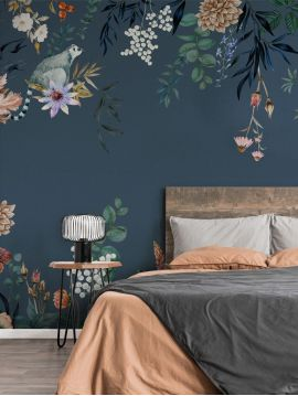 Wallpanel Celeste - Bleu Nuit - W.234 x H.250 cm - strips A.B.C - WallDecor Semi satin