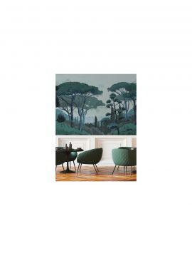Fresque Toscane - Vert - L.156 x H.250 cm - Lés B.C - WallDecor Semi satiné - Second choix n°0