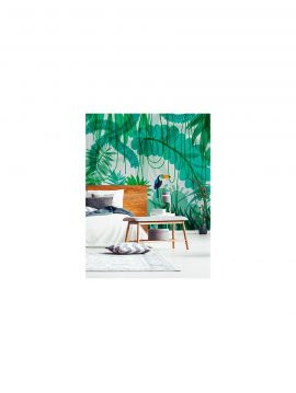 Fresque Toucan - Vert - L.176 x H.270 cm - Lés C.D - WallDecor Semi satiné