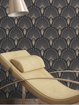1925 Gris anthracite - 10ml x 53cm roll - Traditional Wallpaper