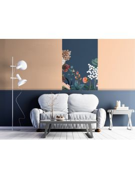 Wallpanel Lewis - Bleu Minéral - 1 strip A of W.78 x H.250 cm - WallDecor Semi satin