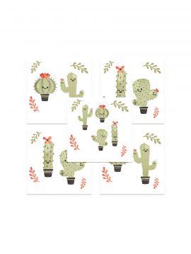Cactus vert - Set de 5 planches BP