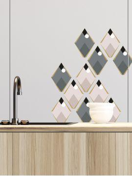 Arlequin gris foncé - Set de 5 planches
