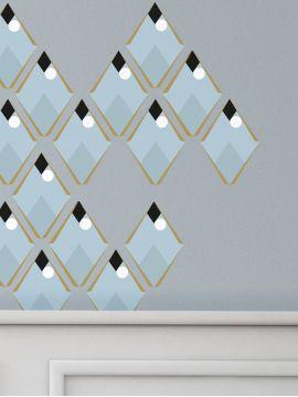 Arlequin bleu - Set de 5 planches
