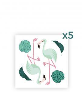 Flamingo - Set de 4 planches